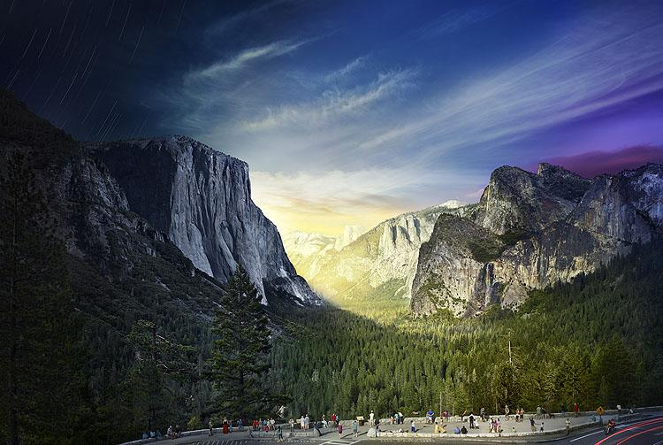 Yosemite, Tunnel View, Day To Night 2014<br/>