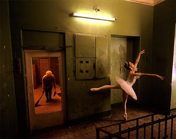 Bolshoi Ballerina Tenement, Downtown Moscow, 1997 Archival Pigment Print