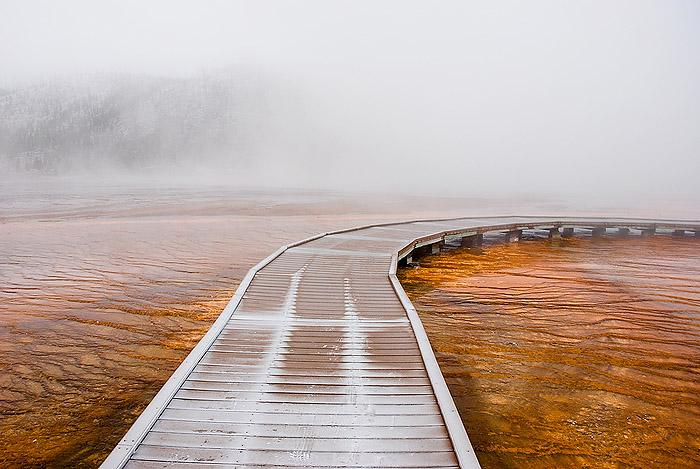 Yellowstone - Walkway in the Fog, 2006 Archival Pigment Print