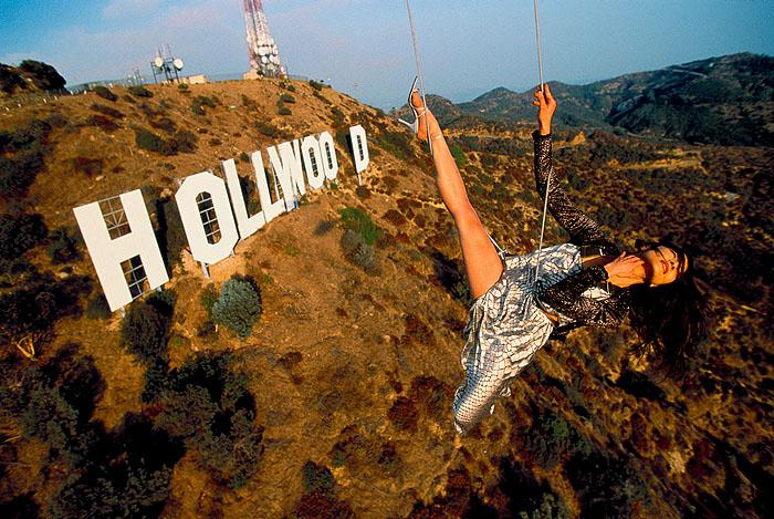 Michelle Yeoh, Hollywood Sign, 1998 Archival Pigment Print