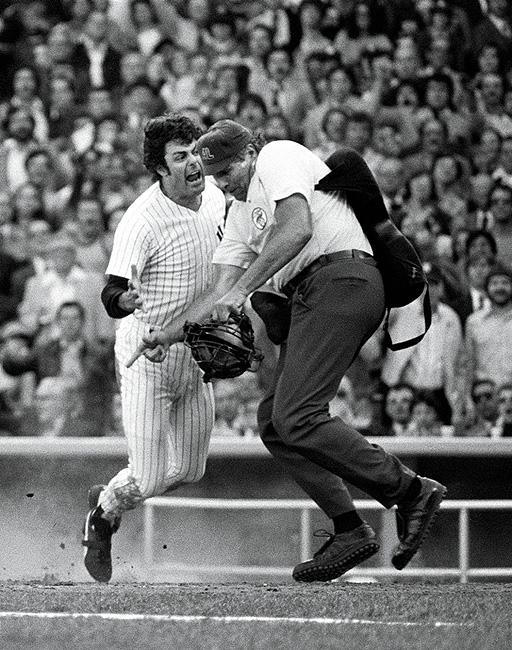 "Home-Plate Dust-up with ""Sweet Lou"" Piniella and Ron Luciano, 1978 Archival Pigment Print"