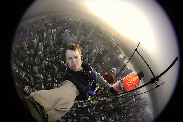 Joe Self-Portrait from Empire State Building, 2001 Archival Pigment Print