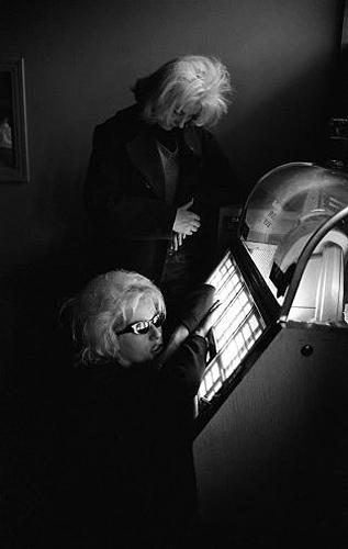 Hells Angels: Ruthie at the jukebox, 1965 Gelatin Silver print