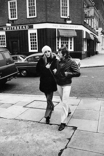 Sharon Tate and Roman Polanski, London, 1968 Gelatin Silver print