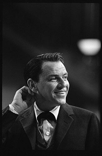 "Frank Sinatra on the set of ""Can Can"" 1959 Gelatin Silver print"