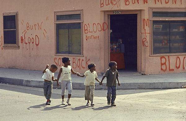 Children on Watts Street, 1966 (Burn, Baby, Burn) Chromogenic print