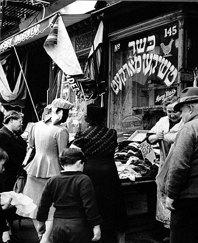 Jewish shop on Lower East Side, Manhattan, 1940 Gelatin Silver print