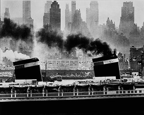 S. S. United States, New York Harbor, 1952 Gelatin Silver print
