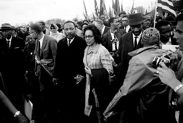 Martin Luther King and Coretta, Selma March, 1965 Gelatin Silver print