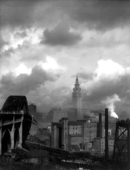 Terminal Tower, Cleveland, OH 1928 Gelatin Silver print