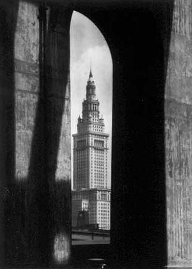 Terminal Tower with Bridge, Cleveland, Ohio, 1928 Gelatin Silver print