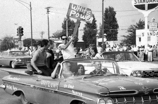 Supporters of Segregationist Realtors, Jefferson Park, Chicago, August 1966<br/>