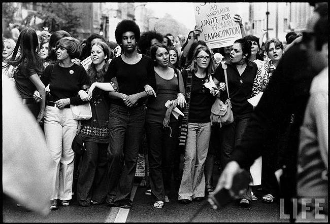 Women in Parade Down 5th Avenue on the 50th Anniversary of the Passage of the 19th Amendment, New York, 1970 - Photo by John Olsen Archival Pigment Print