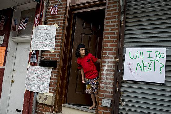 """Will I Be Next"", site of Eric Garner killing, New York, 2014<br/>"