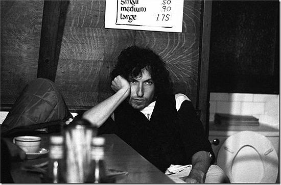 Bob Dylan in coffee shop Archival Print
