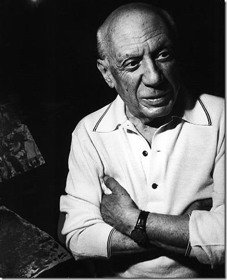 Gijon Mili - Portrait of Pablo Picasso at home, Mougins, France, 1967 Vintage Gelatin Silver Print