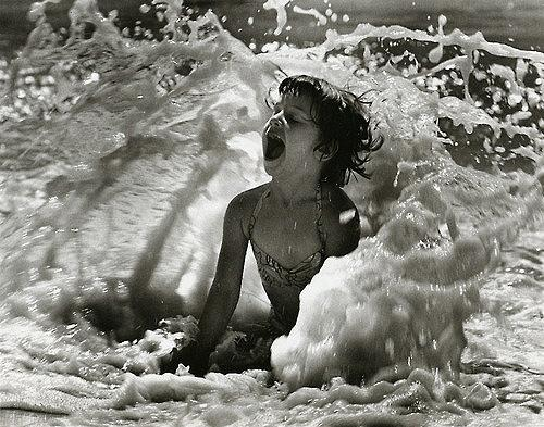 Girl in surf, Jones Beach, New York, 1951 Gelatin Silver print