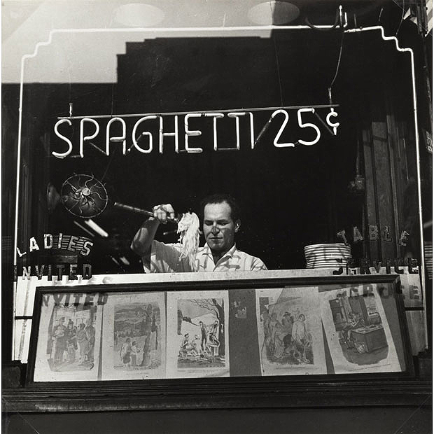 Spaghetti, 25 Cents, New York, 1945