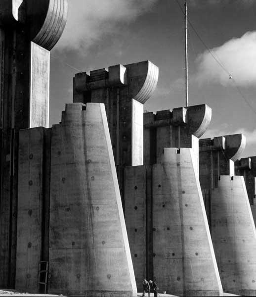 Fort Peck Dam, Fort Peck, MT, 1936 (Cover for first issue of LIFE magazine) Gelatin Silver print