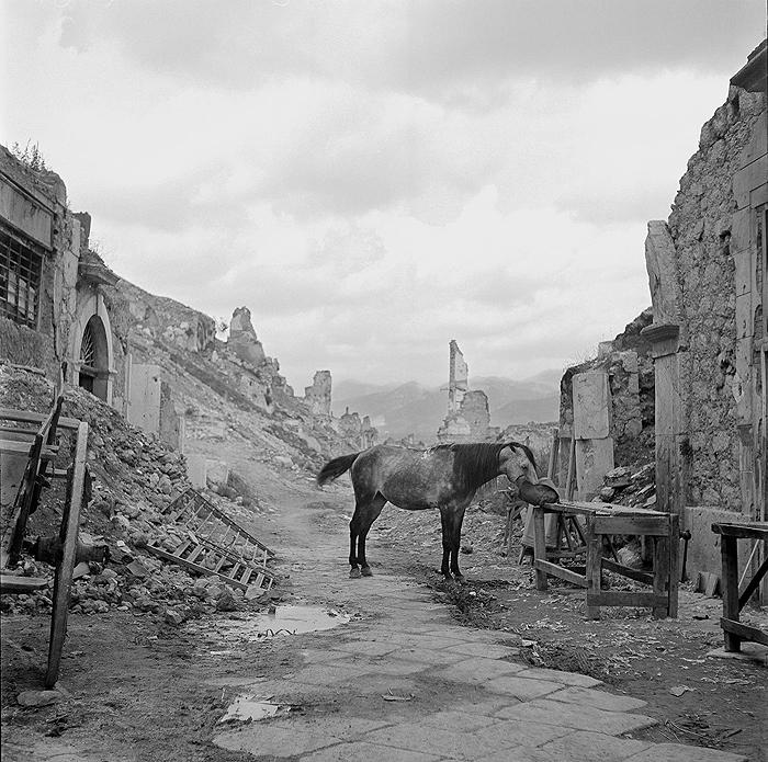 The ruins of Cassino, Italy 1946 Gelatin Silver print