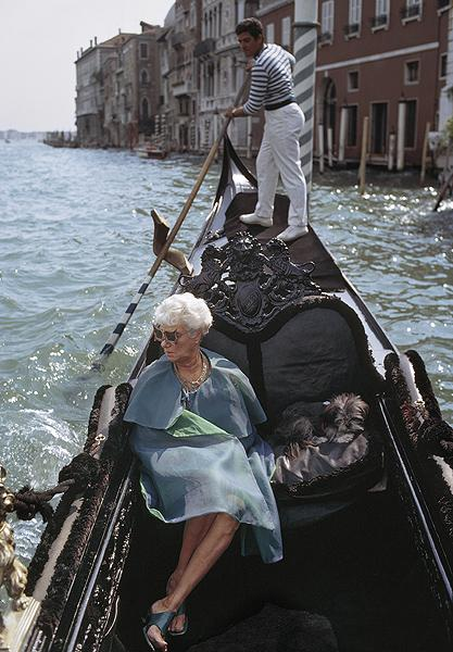 Peggy Guggenheim, Venice, Italy, 1968 35mm Color Digital Baryta