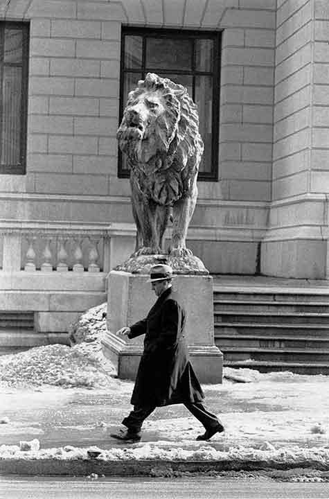 Chicago Mafia Leader Tony Accardo By Courthouse Lion, Chicago, February 1959<br/>