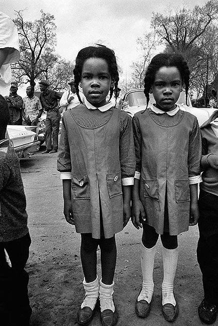 Twins Watching the Selma March, 1965 Gelatin Silver print