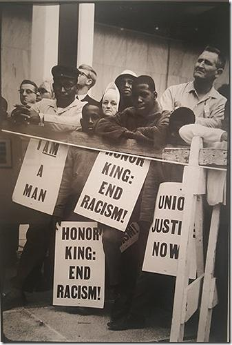 """Honor King: End Racism"" Gelatin Silver print"