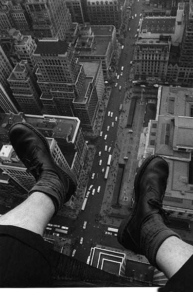 The Suicide's View, New York, 1954 (Pigeon Man)<br/>