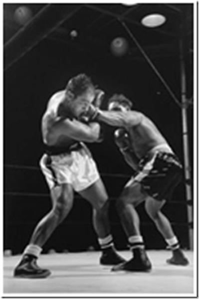 Rocky Marciano attacks Archie Moore, 1955<br/>
