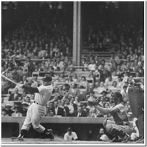Mickey Mantle at bat 1955<br/>