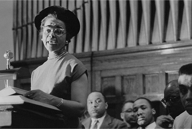 Rosa Parks, Dexter Avenue Baptist Church, December, 1955<br/>