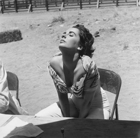 Elizabeth Taylor Sunning Herself on the Marfa, Texas Set of<br/>