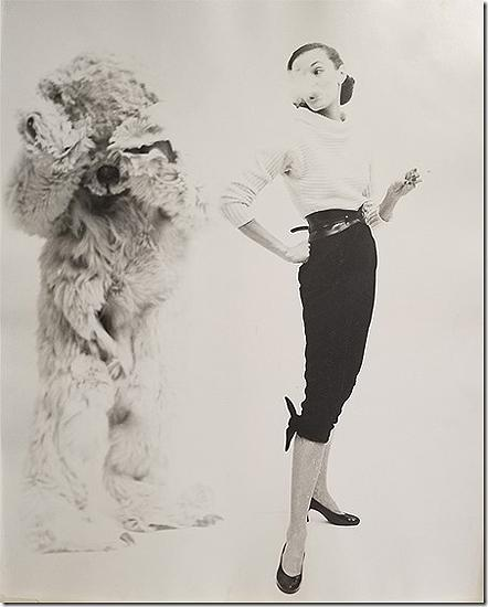 Model and Bear for LOOK, 1950 Vintage Gelatin Silver Print