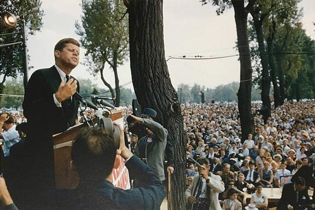 John F. Kennedy on the Hustings, Cleveland, 1960<br/>