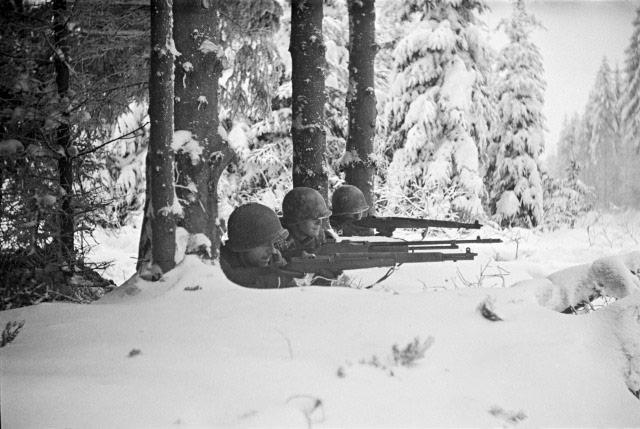 Firing Line, Battle of Hurtgen Forest, Germany, 1944<br/>