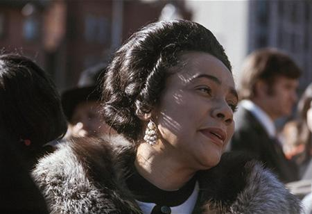Coretta Scott King at her Husband's Funeral, April, 1968 Archival Pigment Print