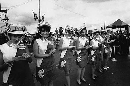 Nixon Women await his arrival, O'Hare Airport, 1968<br/>