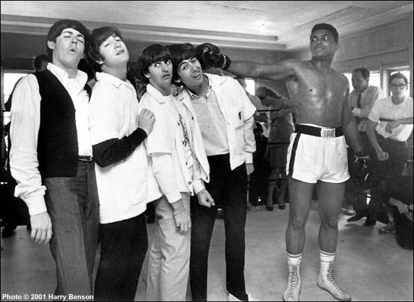The Beatles with Cassius Clay, Miami, 1964 Gelatin Silver print