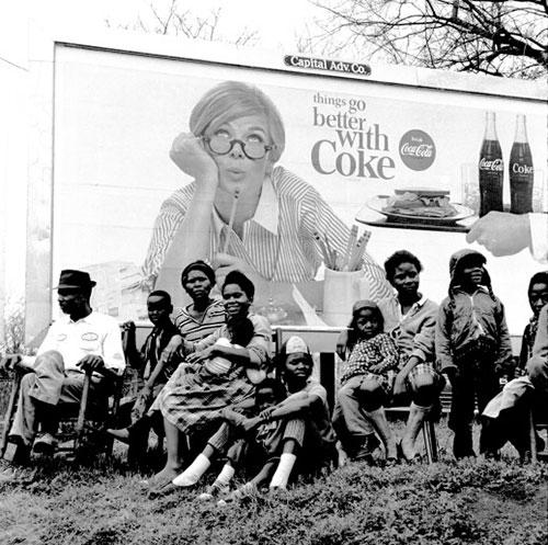 "Watching the Selma March, ""Things go better with Coke"", 1965<br/>"