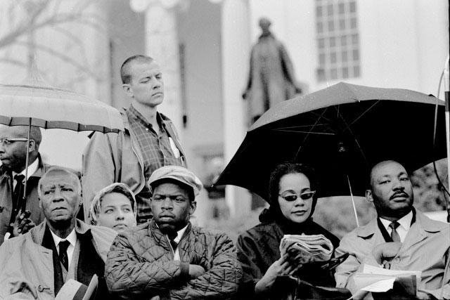 At the end of the Selma March, 1965<br/>