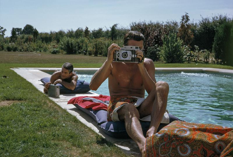 Givenchy by the Pool, South of Paris, France, 1961<br/>