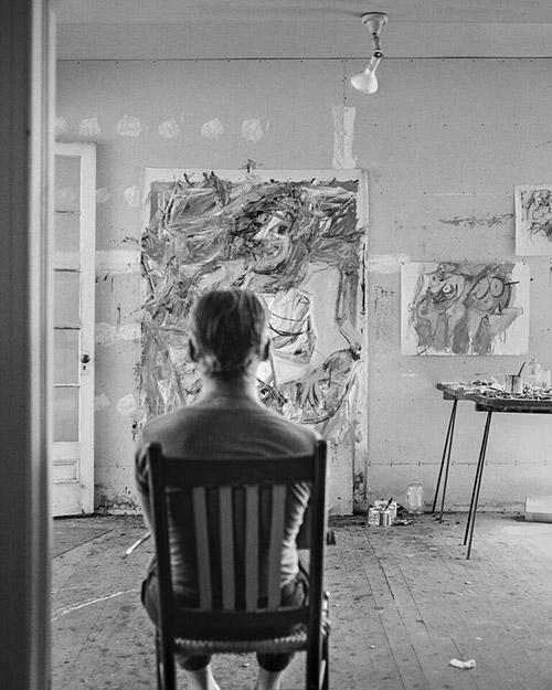 Willem Dekooning Sitting, East Hampton 1953 Archival Pigment Print