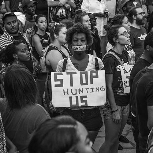 Black Lives Matter Rally after the family of Alton Sterling spoke following the shooting deaths of Philando Castile and Alton Sterling, Piedmont Park, Atlanta, 2016 Archival Pigment Print