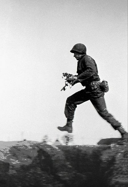 Machine Gun Fire, Germany, March, 1945<br/>