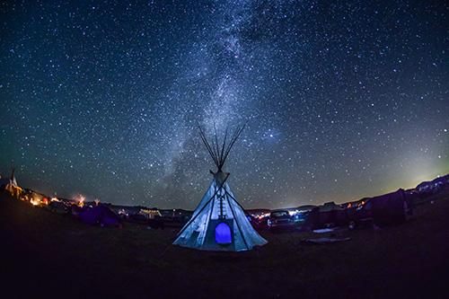Milky Way and Tipi, Standing Rock, 2016 Archival Pigment Print