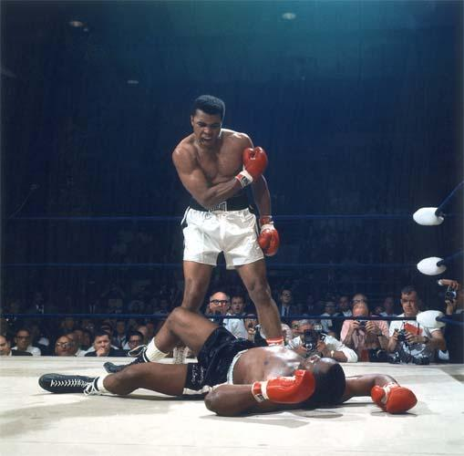 Muhammad Ali Knocks Out Sonny Liston, Lewiston, Maine, May 25, 1965<br/>