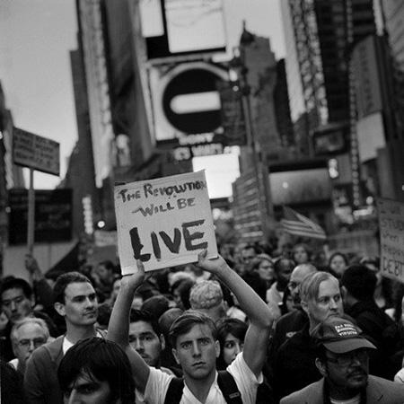 Occupy Wall Street Demonstration: Twenty thousand protesters occupy Times Square on October 15, 2011<br/>