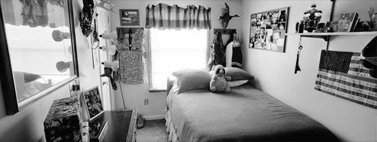 Bedrooms of the Fallen. Army Corporal Matthew J. Emerson, 20, was killed when his vehicle rolled over on September 18, 2007, in Mosul, Iraq. He was from Grandview, Washington. His bedroom was photographed in February 2010.<br/>