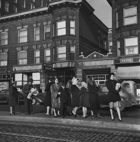 Waiting for the Trolley, Chicago, 1946